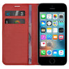 Leather Wallet Case & Card Pouch for Apple iPhone 5 / 5s / SE (1st Gen) - Red